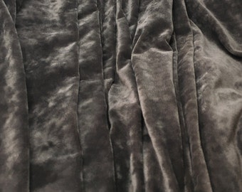 """Mouse Brown Polyester VELVET Fabric - Home Dec 58"""" -By The Yard-"""