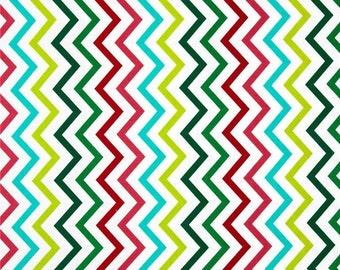 Michael Miller Mini Chic Chevron Garland - Cotton Quilting Fabric  - fat 1/4 remnant