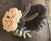 The Needlework Button- Fae ATS or Tribal Fusion Belly Dance Hair Clip