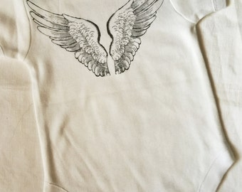 Cute Baby Clothes, Angel, Baby Boy Clothes, One Piece, Bodysuit, Onesie, Angel Wings, Shirt, T Shirt, Snapsuit, Baby Girl Clothes,