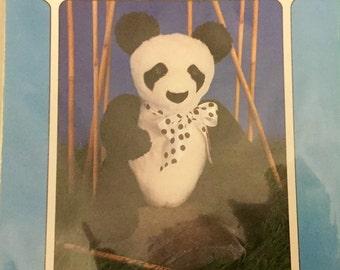 """Peter the Panda Stuffed Animal Pattern 20"""" tall, Uncut New Condition"""