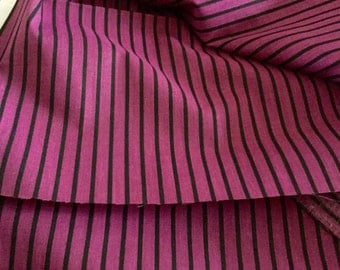 Cotton Striped Maroon and Black 45 inches wide - by the yard