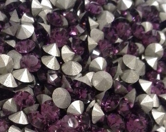48- pp32 Amethyst ss17 Swarovski Size 17 or 4mm Chatons Art 1028 Xilion Swarovski Amethyst ss17 Amethyst 32pp Art 1028 Amethyst 4mm