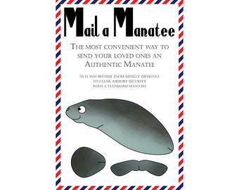 "Manatee Postcards, Set of 8 ""Mail a Manatee"" Postcards"