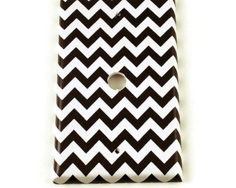 Cable Plate Wall Decor Outlet Switchplate Switch Plate in  Black Chevron  (150C)