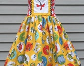 Ready to Ship Custom Boutique Seuss Cat in Hat Dress Girl Size 7 / 8