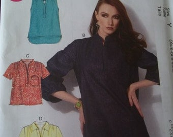 McCall's 6702 Pullover Top Pattern Tunic Top Size XS - M Uncut