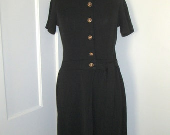 Vintage black shirt dress - small/medium