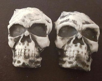 Skull, Skull barrettes, Skeleton, Day of the dead, Gothic, Rockabilly, Halloween, gifts for her