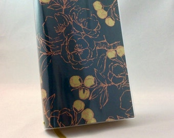 Paperback Book Cover Copper Flowers - Large Trade Size