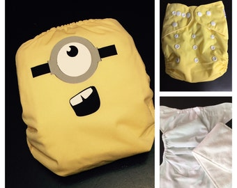 Minion Cloth Pocket Diaper - Pocket Cloth Diaper
