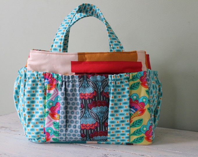 Watermelon Wishes Large Organizer for Knitting with Patchwork Styling