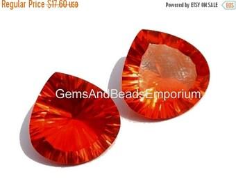 55% OFF SALE 2Pcs 1 Match Pair AAA Orange Quartz Concave Cut Heart Briolettes Size 15x15mm Concave Cut Gems (Choose The Drill Hole)