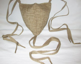 Renaissance Padded Rustic Tan Codpiece with Ties