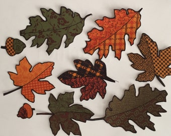 Autumn Leaves - Iron On Fabric Appliqués, Fall, Crafts