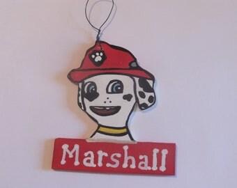 Paw Patrol Marshall Christmas Ornament - Personalized