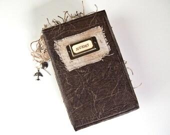 Travel Journal, Art Journal, Diary, Writing Journal, Altered Book, Guest Book, Junk Journal - Amelia