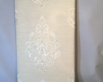 Swarovski Crystals Embellished Fabric Wall Art
