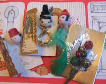 wee cards and vintage decorations