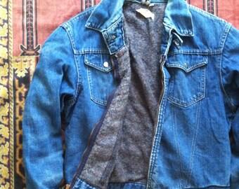 Vintage 101 Denim Blanket Lined Montgomery Ward Jacket • sz 42