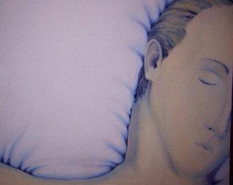 Sleeper original oil painting