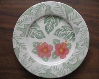 Beautiful Hibiscus Serving Platter