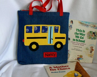 Library book bag | Etsy