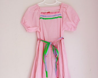 Vintage girl's dress by LOVE pink with ribbon belt size 5t