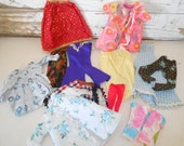 Vintage Barbie Clothes, Handmade Doll Clothes, Retro Doll Clothes