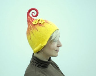 Ready to ship- Felted wool gnome hat, head 53-56cm (20-22.1in) last minute gift