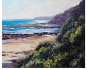 BEACH PAINTING  Seascape Oil Painting Realistc Artwork by Graham Gercken