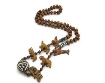 Vintage Hand Carved Animal Necklace - African, Tribal, Totem Beads