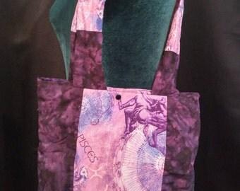 Purple Pisces Bag