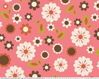 Indian Summer by Riley Blake, Floral in Pink - 1 Yard - Reduced