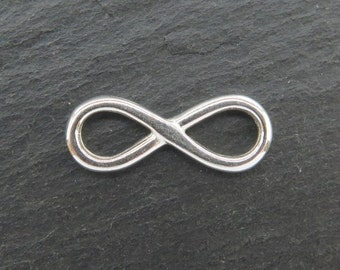 Sterling Silver Infinity Connector 17mm (CG8062)