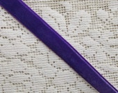 3 Yards Velvet Ribbon Trim Grape Purple 1/2 Inch Wide