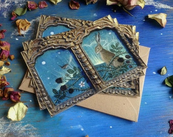 Conversation with a Wren. Postcards with Envelopes