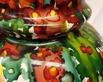 Hand Painted Ceramic Lamp
