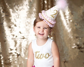 1st Birthday Party, Birthday Party Hats, Princess Party Hats, Smash Cake Props, Onederland , Pink Party Hat, Gold Party Hat, Glitter Hat