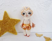 Burlesque Dancer Doll Hand Embroidered Miniature