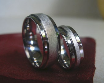 Matching Rings, Wedding Set, His and Hers Bands, Wedding Band Set