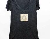 Love, Live, Laugh Women's Tshirt, Print Tshirt, Vneck Tshirt, Appliqued Tshirt, Inspirational Tshirt, Graphic Tshirt, Vintage Style Tshirt