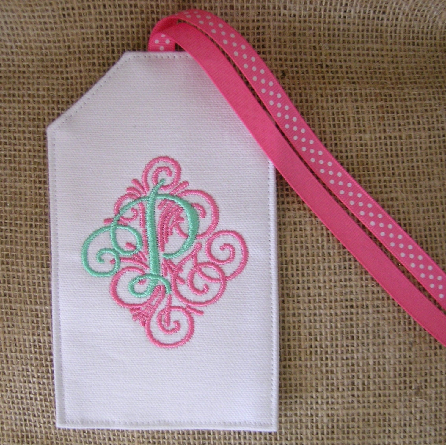 embroidered luggage tag initial luggage tag personalized With embroidered tags personalized