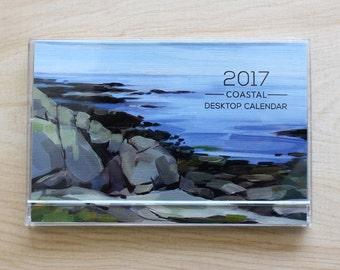 SALE! 2017 Art by Alyssa Coastal Desktop Calendar