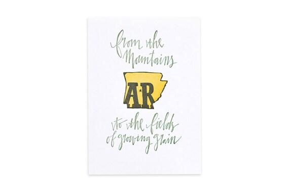 Arkansas Letterpress State Print//1canoe2