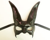 RESERVED FOR LONNIE Leather Rabbit Mask in Black