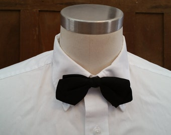 Vintage Black Adjustable Sherman Bow Tie Great Retro Style Guy Gift Formalware