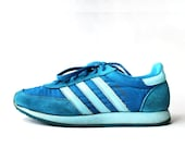 SALE - 1970's Adidas Spirit Teal Trainers Sneakers