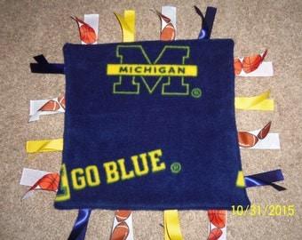 Homemade, Michigan Wolverines, Ribbon Blanket