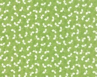 Moda Fabrics Prairie 29004 17 White Leaves on Green by the yard